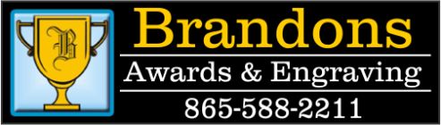 Brandon's Awards - acrylic awards, crystal awards, cup trophies, perpetual plaques, baseball trophies, football trophies, soccer trophies, corporate plaques, recognition plaques, glass awards, gifts, clocks, corporate awards, knoxville, tn, tennessee